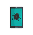 phone virus icon flat style vector image vector image