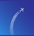 plane loop and arc track or vector image
