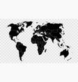 political world map on transparent background vector image
