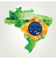 Poster soccer world game Design concept brazil vector image vector image