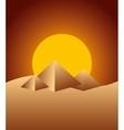 pyramids desert landscape icon vector image vector image