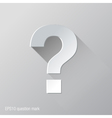 question mark flat icon design vector image vector image