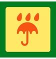 Rain protection icon vector image