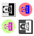 replenishment flat icon vector image vector image