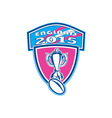 Rugby Cup Ball England 2015 Shield vector image vector image