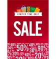 Sale Poster with percent discount vector image vector image