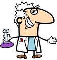 scientist with vial cartoon vector image vector image