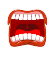 Scream Man shouts Violent emotion Open your mouth vector image vector image