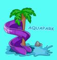 screw water hill in an aquapark vector image vector image