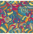 Seamless floral abstract hand-drawn waves pattern vector image