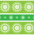 Seamless green design with spirals vector image vector image