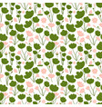 seamless pattern with boho stylizes lotus lily vector image vector image