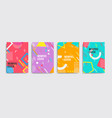 Set neo memphis style covers abstract shapes
