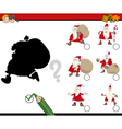 shadows game with santa vector image vector image