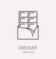 simple logo template chocolate vector image vector image