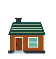 Small cottage icon vector image