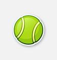 sticker green tennis ball vector image