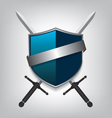Swords and shield vector image vector image