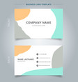 trendy abstract business name card template vector image