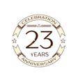 twenty three years anniversary celebration logo vector image vector image