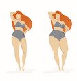 two women thick and thin women with different vector image