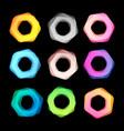 unusual abstract geometric shapes logo set vector image