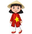 Vietnamese girl in tradition costume