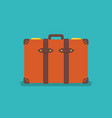 vintage orange suitcase vector image