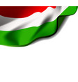 waving flag hungary close-up with shadow on vector image