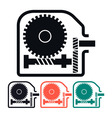 Worm Gear Reducer Icon vector image vector image