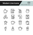 coffee and coffee makers icon modern line design vector image
