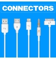 Connectors and Sockets for PC and Mobile Devices vector image