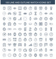 100 watch icons vector image vector image