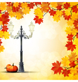 Autumn in the park background vector image vector image