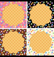 background collection of wafer and cream with vector image
