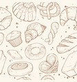 bakery seamless background vector image vector image
