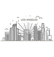 banner of los angeles city in flat line trendy vector image vector image