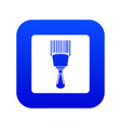 bar code scanner icon digital blue vector image vector image