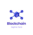 blockchain logo template finance business vector image