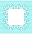 blue ornamental frame vintage decoration vector image