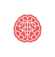 Brain maze icon isolated on white vector image