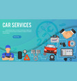 car services banner vector image vector image