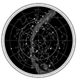 celestial map vector image vector image
