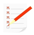 Check list and pencil vector image