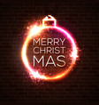 christmas bauble decoration in vivid neon colors vector image