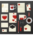 company corporate style with heart template design vector image