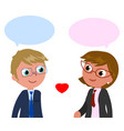 couple of businesspeople vector image vector image