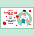 covid19-19 virus outbreak spread novel coronavirus vector image vector image