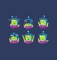 cute alien character set funny monster vector image