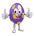 easter egg man vector image vector image